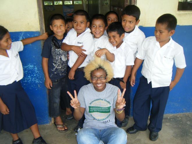 Fascinated with my strange hair!  -Villas del Carmen, Panama-